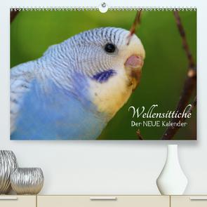 Wellensittiche – der NEUE Kalender (Premium, hochwertiger DIN A2 Wandkalender 2021, Kunstdruck in Hochglanz) von Bergmann,  Björn