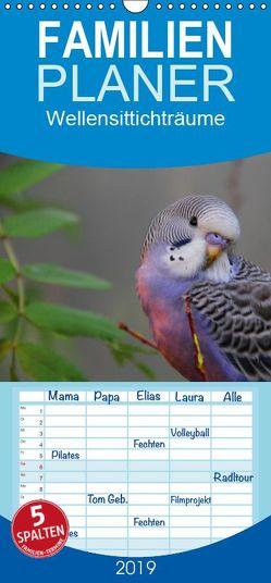 Wellensittichträume – Der neue Wellensittich-Naturkalender – Familienplaner hoch (Wandkalender 2019 , 21 cm x 45 cm, hoch) von Bergmann,  Björn