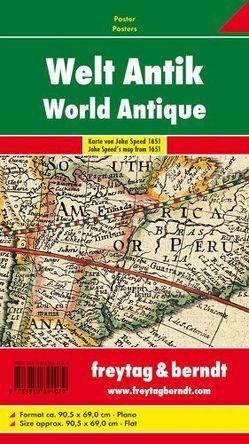 Welt antik, Karte von John Speed 1651, Poster von Freytag-Berndt und Artaria KG