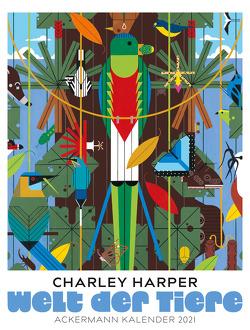 Welt der Tiere – Charley Harper Kalender 2021 von Harper,  Charley
