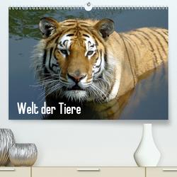 Welt der Tiere (Premium, hochwertiger DIN A2 Wandkalender 2021, Kunstdruck in Hochglanz) von Riedel,  Tanja