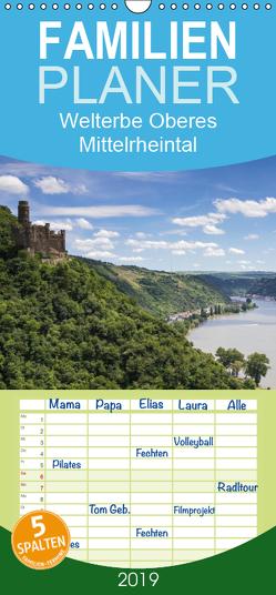 Welterbe Oberes Mittelrheintal – Familienplaner hoch (Wandkalender 2019 , 21 cm x 45 cm, hoch) von Schonnop,  Juergen