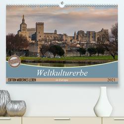 Weltkulturerbe in Europa (Premium, hochwertiger DIN A2 Wandkalender 2021, Kunstdruck in Hochglanz) von Steiner und Matthias Konrad,  Carmen