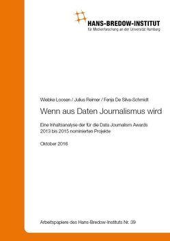 Wenn aus Daten Journalismus wird von Loosen,  Wiebke, Reimer,  Julius