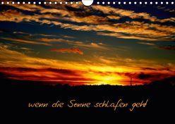 wenn die Sonne schlafen geht (Wandkalender 2019 DIN A4 quer) von tinadefortunata