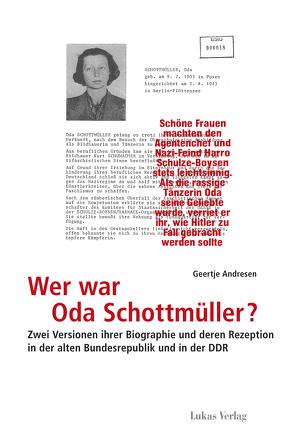 Wer war Oda Schottmüller? von Andresen,  Geertje
