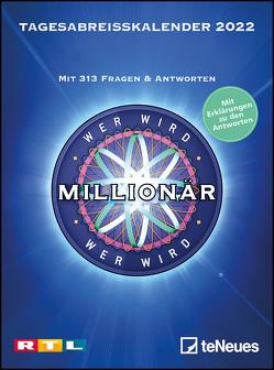 Wer wird Millionär 2022 Tagesabreißkalender – 11,8×15,9 – Rätselkalender – Knobelkalender – Tischkalender