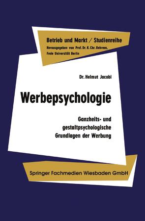 Werbepsychologie von Jacobi,  Helmut