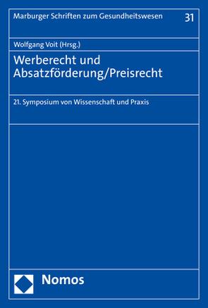 Werberecht und Absatzförderung/Preisrecht von Voit,  Wolfgang