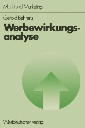 Werbewirkungsanalyse von Behrens,  Gerold