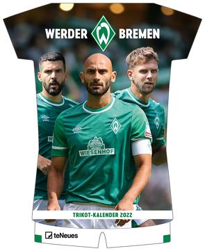 Werder Bremen 2022 – Trikotkalender – Fankalender – Fußball-Kalender – 34,1×42 – Sport