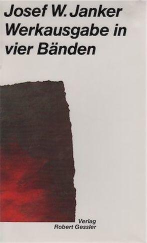 Werkausgabe von Bosch,  Manfred, Janker,  Josef W