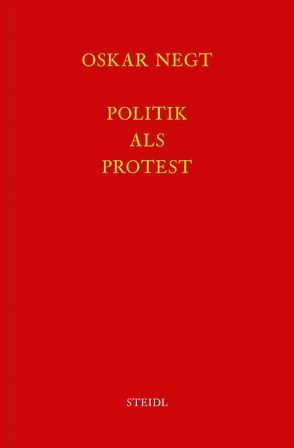 Werkausgabe Bd. 3 / Politik als Protest von Negt,  Oskar
