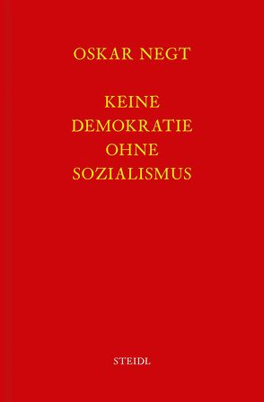 Werkausgabe Bd. 5 / Keine Demokratie ohne Sozialismus von Negt,  Oskar