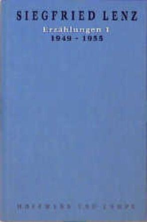 Werkausgabe in Einzelbänden / Erzählungen 1 von Lenz,  Siegfried