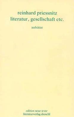 Werkausgabe / Literatur, Gesellschaft etc. von Priessnitz,  Reinhard, Schmatz,  Ferdinand