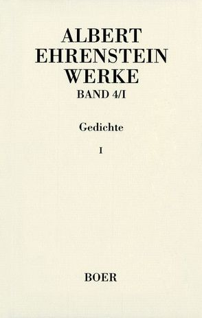 Werke von Ehrenstein,  Albert, Mittelmann,  Hanni