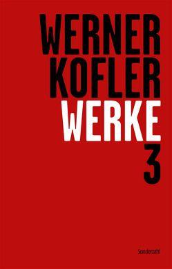 Werke 3 von Dürr,  Claudia, Köfler,  Werner, Sonnleitner,  Johann, Straub,  Wolfgang