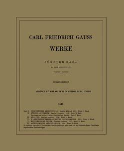 Werke von Gauss,  Carl Friedrich, Gesellschaft der Wissenschaften