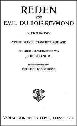 Werke von Du Bois-Reymond,  Emil