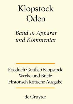 Werke und Briefe. Abteilung Werke I: Oden / Apparat und Kommentar von Gronemeyer,  Horst, Hurlebusch,  Klaus