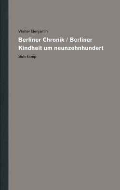 Werke und Nachlaß. Kritische Gesamtausgabe von Benjamin,  Walter, Lindner,  Burkhardt, Werner,  Nadine