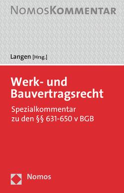 Werkvertragsrecht von Langen,  Werner