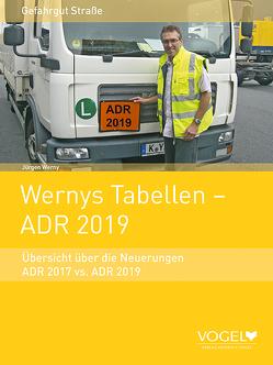 Wernys Tabellen – ADR 2019 von Werny,  Jürgen