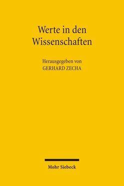 Werte in den Wissenschaften von Zecha,  Gerhard