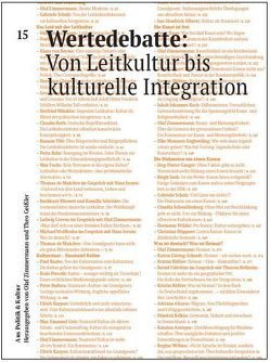 Wertedebatte: Von Leitkultur bis kulturelle Integration von Schulz,  Gabriele, Zimmermann,  Olaf
