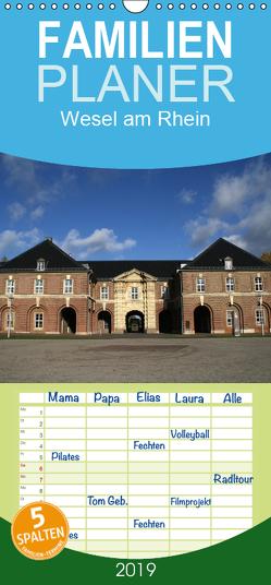 Wesel am Rhein – Familienplaner hoch (Wandkalender 2019 , 21 cm x 45 cm, hoch) von Daus,  Christine