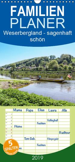Weserbergland – sagenhaft schön – Familienplaner hoch (Wandkalender 2019 , 21 cm x 45 cm, hoch) von Becker,  Thomas