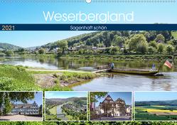 Weserbergland – sagenhaft schön (Wandkalender 2021 DIN A2 quer) von Becker,  Thomas