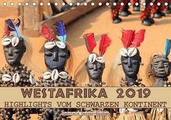 Westafrika, Highlights vom schwarzen Kontinent (Tischkalender 2019 DIN A5 quer) von Gerner-Haudum,  Gabriele