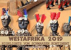 Westafrika, Highlights vom schwarzen Kontinent (Wandkalender 2019 DIN A3 quer) von Gerner-Haudum,  Gabriele
