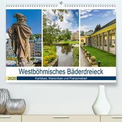 Westböhmisches Bäderdreieck – Karlsbad, Marienbad und Franzensbad (Premium, hochwertiger DIN A2 Wandkalender 2020, Kunstdruck in Hochglanz) von Viola,  Melanie