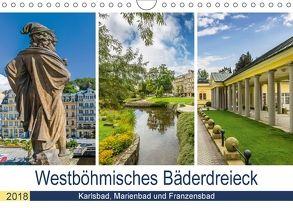 Westböhmisches Bäderdreieck – Karlsbad, Marienbad und Franzensbad (Wandkalender 2018 DIN A4 quer) von Viola,  Melanie