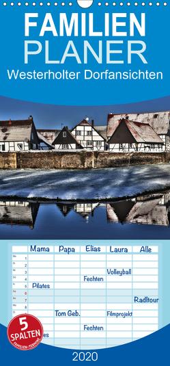 Westerholter Dorfansichten – Familienplaner hoch (Wandkalender 2020 , 21 cm x 45 cm, hoch) von Grau,  Anke