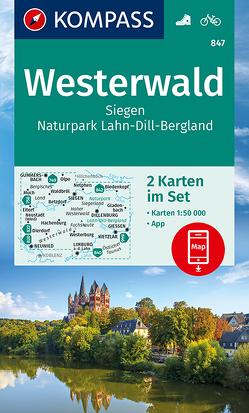 Westerwald, Siegen, Naturpark Lahn-Dill-Bergland von KOMPASS-Karten GmbH