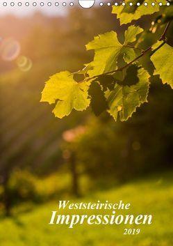 Weststeirische Impressionen (Wandkalender 2019 DIN A4 hoch) von Dzierzawa,  Judith