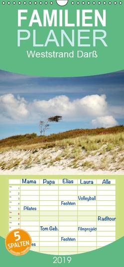 Weststrand Darß – Familienplaner hoch (Wandkalender 2019 , 21 cm x 45 cm, hoch) von Deter,  Thomas