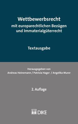 Wettbewerbsrecht von Hager,  Patricia, Heinemann,  Andreas, Murer,  Angelika