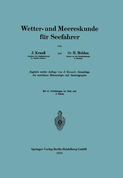 Wetter- und Meereskunde für Seefahrer von Krauß,  Joseph, Meldau,  Heinrich