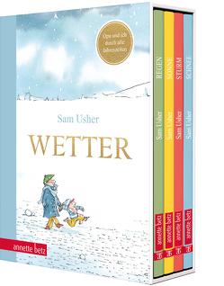 Wetter – Vier Bilderbücher in einem hochwertigen Schuber von Usher,  Sam