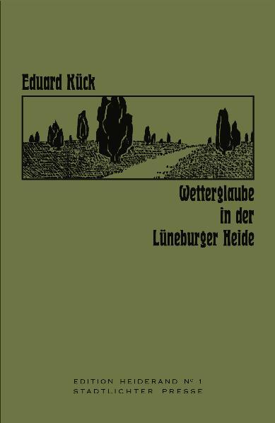 Wetterglaube In Der Lüneburger Heide Von Kück Eduard