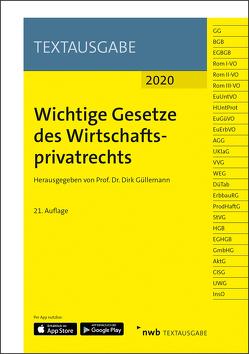 Wichtige Gesetze des Wirtschaftsprivatrechts von Güllemann,  Dirk, NWB Gesetzesredaktion