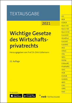 Wichtige Gesetze des Wirtschaftsprivatrechts von Güllemann,  Dirk