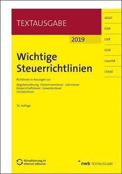 Wichtige Steuerrichtlinien von Walkenhorst,  Ralf