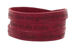 """Wickelarmband Leder """"Glaube, Hoffnung und Liebe"""""""