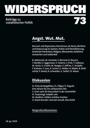Widerspruch 73 von Adamczak,  Bini, Gmür,  Mario, Graefe,  Stefanie, Knöpfel,  Carlo, Kretzen,  Friederike, Mäder,  Ueli